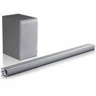 LG Soundbar SJ6 silver Bluetooth, High-Resolution Audio, incl. wirelessem Subwoofer £199 at Amazon