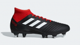 Adidas PREDATOR 18.3 SOFT GROUND BOOTS, Black/Red   £55.96 at Adidas