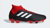 Adidas PREDATOR 18.3 FIRM GROUND BOOTS, Black/Red   £55.96 at Adidas