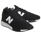 New Balance 247 Men's Trainers BLACK WHITE U Trainers Shoes £50 (£19.99 OFF) at Office eBay Store