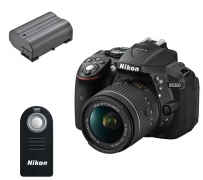 NIKON D5300 DSLR Camera with 18-55 mm f/3.5-5.6 Lens + Remote & Batteries – Black £529.99 with Code at Currys