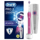 Oral-B Pro 2 2500 3D White Electric Rechargeable Toothbrush with Travel Case Powered by Braun – Pink £32.51 at Amazon