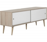 """OUTLINE Retro 1400 mm up to 70"""" TV Stand – Oak & White £499.99 @ Currys"""