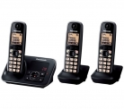 PANASONIC KX-TG6623EB Cordless Phone with Answering Machine – Triple Handsets £49.99 at Currys