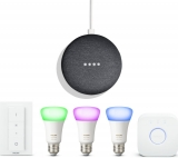 PHILIPS Google Home Mini & Hue White & Colour Ambiance 27 Starter Kit Bundle £78.94 at Currys