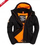 Superdry Pop Zip Hooded Arctic SD-Windcheater Jacket Black/Fluro Orange £44.99 at Superdry eBay