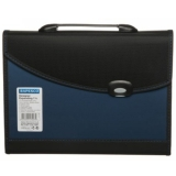 Rapesco Metallic Blue & Black A4 Plastic Push Button Expanding File Index Holder £8.99 at WHSmith eBay