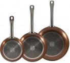 San Ignacio Bergner Professional Copper Frying Pan Set Induction Non Stick – Set of 3 – £31.99 at Amazon
