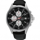 Seiko SKS485P1 Mens Stainless Steel Quartz Watch With Black Leather strap Strap £100 at Watch Shop on eBay