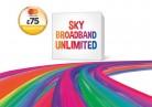 Unlimited Broadband + Line Rental & Sky Talk £18.99 p/m 12mths + £75 Prepaid MasterCard – Works out £14.40 p/m