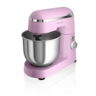 Swan SP25010PN Retro Stand Mixer, with 4.2L S/S Mixing Bowl – Includes Dough Hook, Beater and Whisk, Pink £59 at Amazon