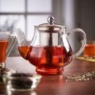 VonShef 750ml Stainless Steel Glass Infusion Tea Pot Tea Leaf Infuser Teapot £14.99 at eBay