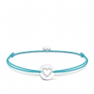 Thomas Sabo Women-Bracelet Little Secrets heart 925 Sterling silver turquoise LS069-401-31-L20v Newness £49 at Amazon