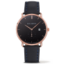 Watch Grand Atlantic Line Black Sea IP Rose Gold Leather Watch Strap Navy Blue £110.00 @ Paul Hewitt