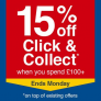 15% Off £100 Spend on Click & Collect @ Wickes
