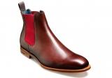Barker Hopper – Walnut Calf/Burgundy Elastic – F – Medium £142.50   at Robinson's Shoes