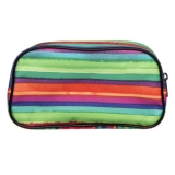 WHSmith Sola Multi-Coloured Stripe Zipped Cosmetic Bag Case With 1 Compartment £7.59 at WHSmith eBay